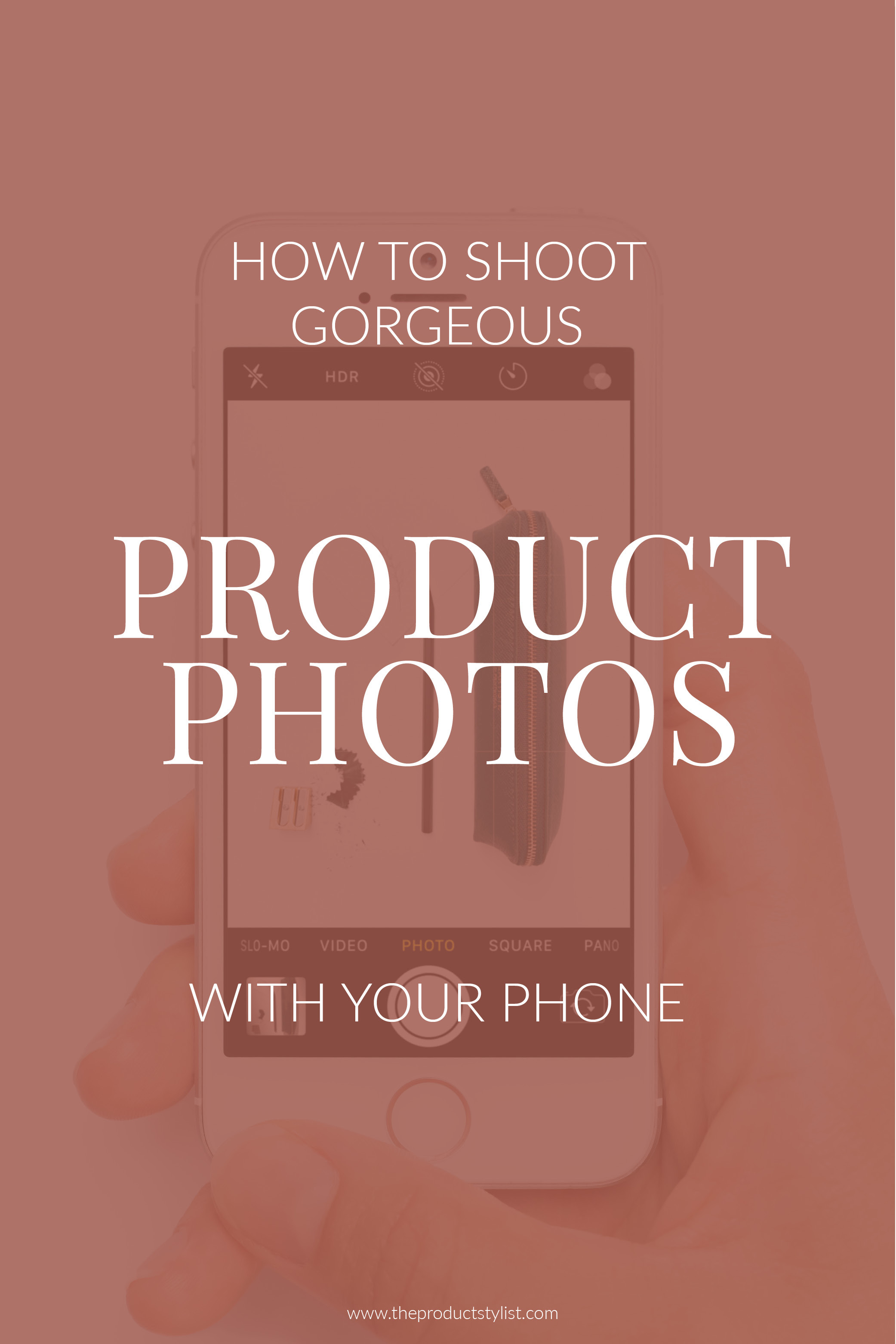 Pinterest graphic for product photography blog post